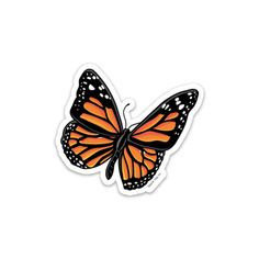 The Monarch Butterfly Sticker — blank tag co. butterfly aesthetic The Monarch Butterfly Sticker butterfly vsco Stickers Cool, Stickers Kawaii, Red Bubble Stickers, Tumblr Stickers, Phone Stickers, Printable Stickers, Wallpaper Stickers, Image Stickers, Vsco