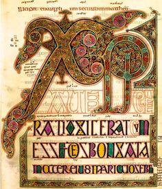 Enluminure, Evangiles de Lindisfarne, British Library