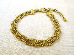 Vintage Gold Chain Bracelet by WhiteMagpieJewellery on Etsy