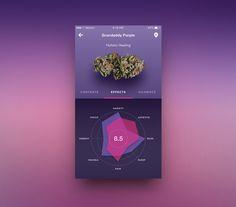 UI Design concept for medical Marijuana mobile application. #ui #ux #mobile #data #graph #dribbble #iOS