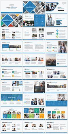 Elite Corporate PowerPoint Template - Blue Color Slides Company Presentation, Presentation Slides, Business Presentation, Presentation Design, Corporate Business, Creative Business, Professional Powerpoint Templates, Color Themes, The Help