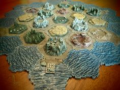 Custom Made hand painted 3D Settlers of Catan. $175.00, via Etsy.