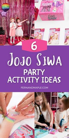 Throw a JoJo Siwa themed birthday party complete with art station, bow making station, nail salon, and other fun activity ideas!  Get all of the details for these fun kids birthday party ideas now at fernandmaple.com!