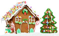 Host a gingerbread party with friends, family or a group of kids as a way to celebrate the holiday season and have fun at the same time. Its Christmas Eve, Christmas Party Themes, Christmas Baking, Christmas Holidays, Christmas Houses, Christmas Christmas, Xmas, Easy Gingerbread House, Graham Cracker Gingerbread House