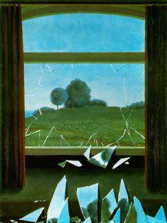 La llave de los campos. 1936. Óleo sobre lienzo. 80 x 60 cm. Museo Thyssen-Bornemisza. Obra de René Magritte