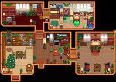 One of the fun parts of Stardew Valley is putting those personal touches on your farm. This is a place to discuss and share the interior of your. Stardew Farms, Stardew Valley Farms, Stardew Valley Layout, Stardew Valley Tips, Trio Of Towns, Farm Layout, Green House Design, Terraria, House Layouts