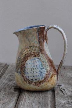 "Ceramic pot | Купить кувшин ""плодородие"" - бежевый, ваза декоративная, ваза для цветов, плодородие, ваза ручной работы"
