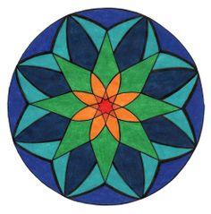 8 pointed star flower mandala
