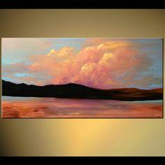 clouds landscape painting east home decor