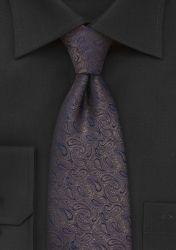 Krawatte Paisleys braun und königsblau günstig kaufen