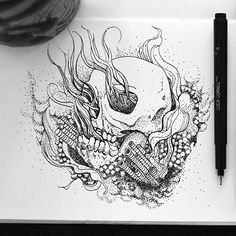 Skull life  Reposting this old piece. School is getting frustrating! But it's all good. Almost there. 5 more weeks and I'm done! Yay :) . . . . . . . . #eulesi #sketchpad #drawing #illustration #arts_help #artcall  #artist #onlineart #arts_gallery #sketch #illustrate #illustrator #blvart #thedesigntip #art #graphics #graphicart  #artcall #tacart #instart #artistshoutout #art_conquest  #arthomepage #justartshares #artgiants #skull #blackandwhite #pointilism