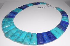 Jay King Necklace Mine Finds Turquoise & Lapis Collar Sterling Silver  #JayKing #Collar