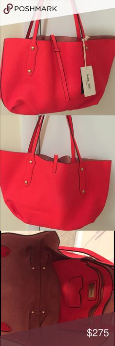 """Annabel Ingall BRAND NEW! """"Isabella"""" Tote This buttery soft leather tote in bright orange is a beautiful alternative to basic black that will add a interest and warmth to any look. I love Annabel Ingall's masterful approach to designing timeless, beautifully constructed leather goods. The designer's signature 'Isabella' style is a best seller season after season. Not only is it endlessly versatile, it's also lightweight and packable, making it a stylish choice for day-to-day use that doubles…"""