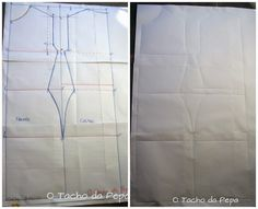 O tacho da Pepa: Molde do avental ou Sew aprons patterns.