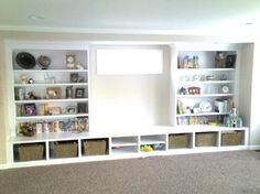 Traditional Basement Photos Small Basement Remodeling Ideas Design, Pictures, Remodel, Decor and Ideas - page 8 Cover elecrtrical box. Basement Renovations, Home Remodeling, Basement Ideas, Basement Designs, Basement Decorating, Decorating Ideas, Basement Storage, Playroom Ideas, Rustic Basement