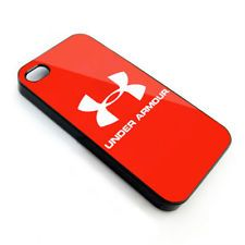 1 Under Armour Logo Red-iphone 5/5s SE 6/6s 6+ 7 7+ 8 8+ X s7 s7 edge s8 s8+