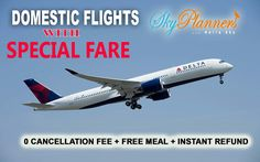 Special Fares on Domestic Flights. -> 0 Cancellation fee -> Free Meal -> Instant Refund Just try it then believe it... #Travel #Airticketing #DomesticFlights #TravelAgency #CheapFlights http://skyplanners.com/