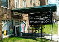 Once Upon a Crime Mystery Books, Minneapolis, MN. I want to see this mystery bookshop! I Love Books, Good Books, Books To Read, Literary Travel, Shop Around, To Infinity And Beyond, Mystery Books, Street Signs, Library Books