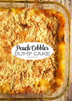 Peach Cobbler Dump Cake Peach Cobbler Dump Cake - only 4 ingredients for the most delicious dessert ever! Literally takes a minute to make and everyone loved it. Serve warm with some vanilla ice cream. Dessert Simple, Dump Cake Recipes, Baking Recipes, Peach Cake Recipes, Fresh Peach Recipes, Crockpot Dessert Recipes, Pudding Recipes, Frosting Recipes, Peach Cobbler Dump Cake
