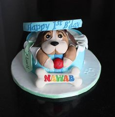 Puppy's first birthday - Cake by Ashwini Sarabhai