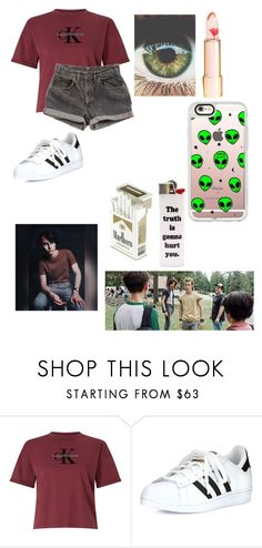 """havin no regrets is all that she really wants"" by foureyedloser ❤ liked on Polyvore featuring Calvin Klein, Levi's, adidas and Married to the Mob"