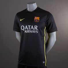 Football Shirts - Nike Barcelona 2013/14 Third Replica Short Sleeve Jersey - Replica Clothing - Black-Vibrant Yellow #pdsmostwanted