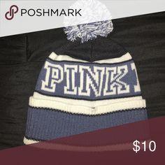 Pink nation beanie Blue PINK Victoria secret beanie PINK Victoria's Secret Accessories Hats