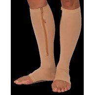 Zipper Pressure Compression Socks Support Stockings Leg - Open Toe Knee High - 20-30mmHg - Helps Circulation, Varicose Veins, Swollen Legs, Zipper - Nude Large Size - Walmart.com - Walmart.com Compression Hose, Compression Stockings, Support Stockings, Slippers With Arch Support, Aching Legs, Swollen Ankles, Stockings Legs, Varicose Veins, Easy Wear
