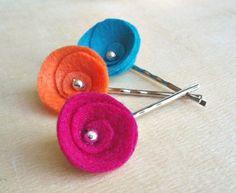 felt hair pins
