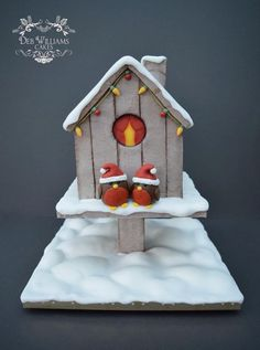 Christmas with the Robins! - Cake by Deb Williams Cakes