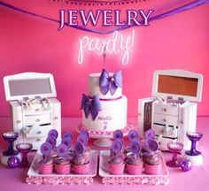 Cool Theme...jewellery making party! lil-girls-parties