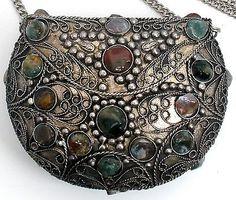 Sajai Natural Agate Gemstone Purse Shoulder Handbag Metal Hand Made. Női  KézitáskákVintage ÉkszerVálltáskaKézitáskák 66353a3dac
