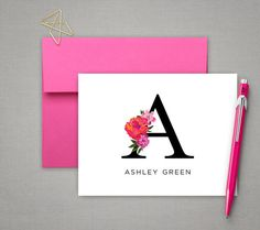 Personalized Stationary Set Monogrammed Note Cards by IDesignThat