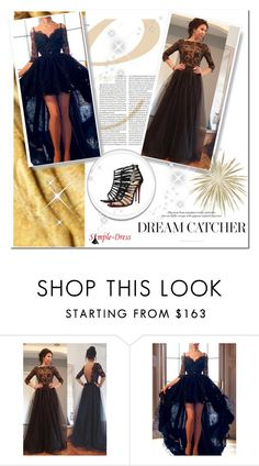 """""""Simple-Dress 1/29"""" by melodibrown ❤ liked on Polyvore featuring Christian Louboutin"""