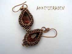 Crystal drop earrings by Akke Jonkhof