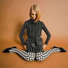 1960s Vogue, print clash #60s #retro #vintage