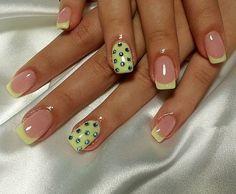 Color french manicure, Elegant nails, Fashion nails 2016, French manicure design, French manicure ideas, french manicure news 2016, French manicure with rhinestones, Fresh nails