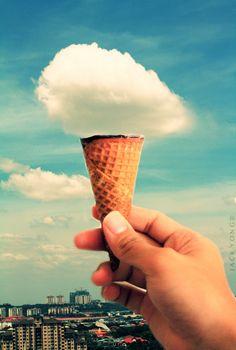 Cloudy cotton candy ice cream. #nomnomnom
