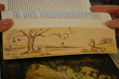 Fore-edge painting ~ isn't this cool!!