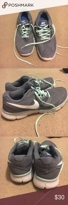 Nike gray and mint sneakers Flex Experience RN 3 Nikes! Mint and gray. In great condition, they are so comfortable! Nike Shoes Sneakers