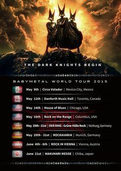 「BABYMETAL WORLD TOUR 2015」 幕張メッセイベント - THE ONE - チケット先行日 【公演日】 2015年6月21日(日) 【会場】 幕張メッセ展示ホール 1番~3番 - THE ONE - 限定特別チケット先行は2月20日(金)正午よりスタート!! 【- THE ONE -...