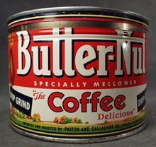 Old Butter-Nut Coffee Key Wind Tin