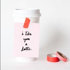 Valentine latte