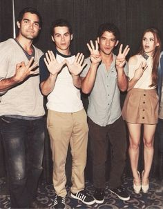 Teen Wolf Cast: Tyler Hoechlin, Crystal Reed, Holland Roden, Dylan O'Brien and Tyler Posey