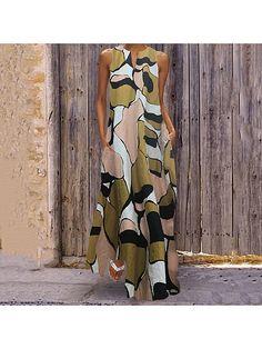 Impresión de múltiples Festival de longitud completa verano Leopardo Camuflaje Maxi falda de vacaciones
