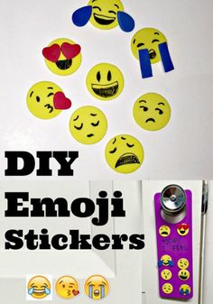Cool Crafts You Can Make for Less than 5 Dollars | Cheap DIY Projects Ideas for Teens, Tweens, Kids and Adults | DIY-Emoji-Stickers | http://diyprojectsforteens.com/cheap-diy-ideas-for-teens/