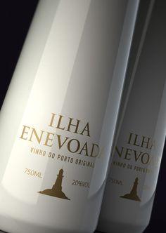 """Wine """"Ilha Enevoada"""" by Pavel Kulinsky, via Behance"""