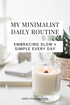 Learn how my minimalist daily routines help me make time for the things that matter most. Click to read my detailed morning and evening routines, and you'll also find tips on how to create your own minimalist routines too. Evening Routine, Balanced Life, Daily Routines, Slow Living, Decluttering, Make Time, Simple Living, Nook, Minimalism