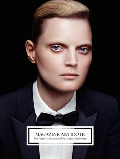 """Miguel Reveriego photographs five cover stars and a stunning editorial in the latest issue of Antidote magazine, themed """"The Night Issue"""". Three of my favourite models - Lindsey Wixson, Jamie Boche..."""