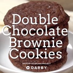 Cookies Recipes How to Make Double Chocolate Brownie Cookies Brownie Recipes, Cookie Recipes, Dessert Recipes, Just Desserts, Delicious Desserts, Yummy Food, How To Make Desserts, Vegan Desserts, Oreo Desserts